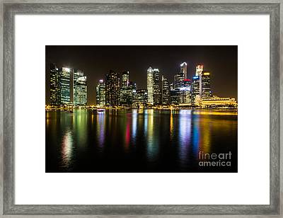 Glowing Singapore Framed Print