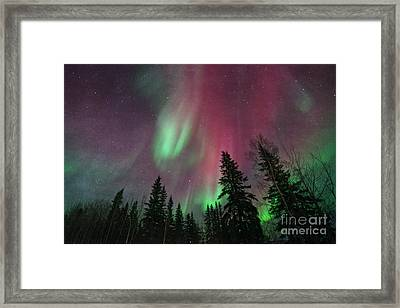 Glowing Skies Textured Framed Print by Priska Wettstein