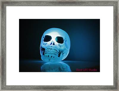 Glowing Skull Framed Print by Al Fritz