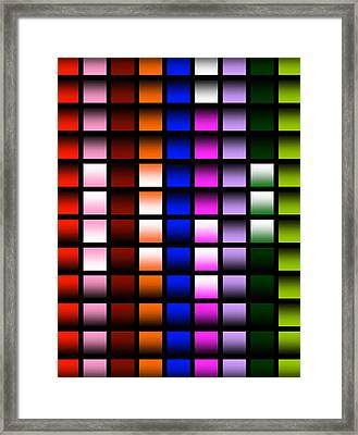 Framed Print featuring the digital art Glowing Squares  by Gayle Price Thomas