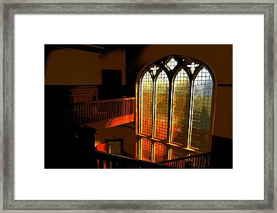 Glowing Stairs Framed Print
