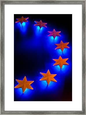 Glowing Stars Of Freedom Framed Print