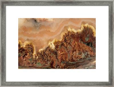 Glowing Stone Framed Print by Leland D Howard
