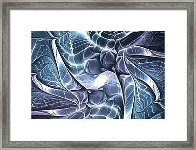 Glowing Structure Framed Print by Anastasiya Malakhova