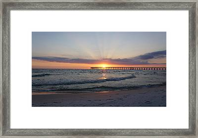 Glowing Sunset Framed Print by Sandy Keeton