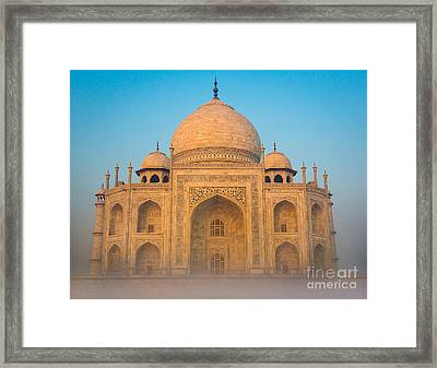 Glowing Taj Mahal Framed Print