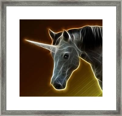 Glowing Unicorn Framed Print