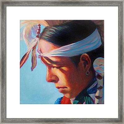 Glowing Youth Framed Print