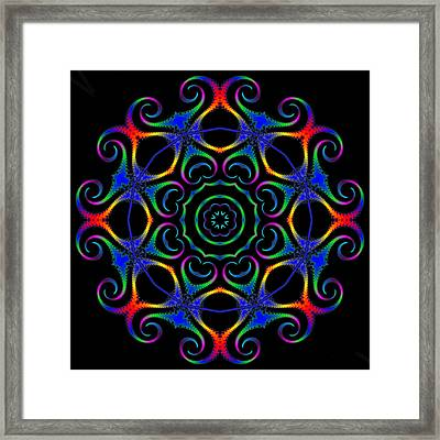 Glowworm Circle Framed Print by Pat Follett