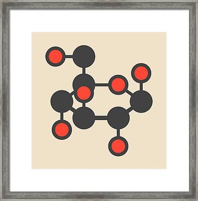 Glucose Molecule Framed Print by Molekuul