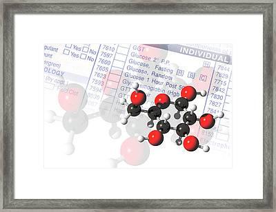 Glucose Molecules Framed Print