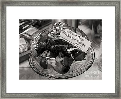 Gluten Free Muffins In Black And White Framed Print