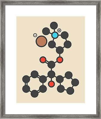 Glycopyrronium Bromide Drug Molecule Framed Print by Molekuul