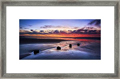 Glyne Gap Sunrise Framed Print by Mark Leader