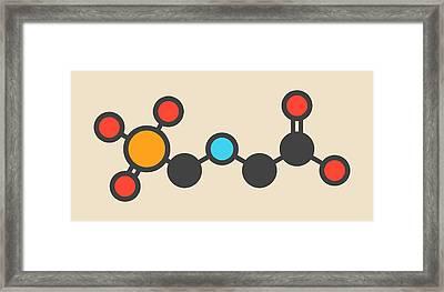 Glyphosate Herbicide Molecule Framed Print by Molekuul