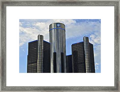 Gm Building Framed Print by Frozen in Time Fine Art Photography