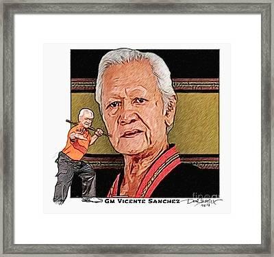 Gm Vicente Sanchez Framed Print by Donald Castillo