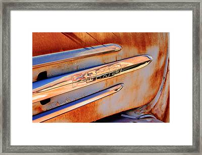 Gmc 4000 V6 Pickup Truck Side Emblem Framed Print