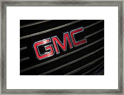 Gmc Emblem - 1634c Framed Print