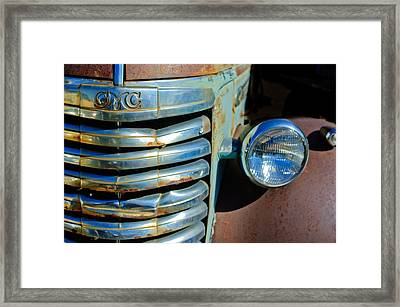Gmc Truck Grille Emblem Framed Print