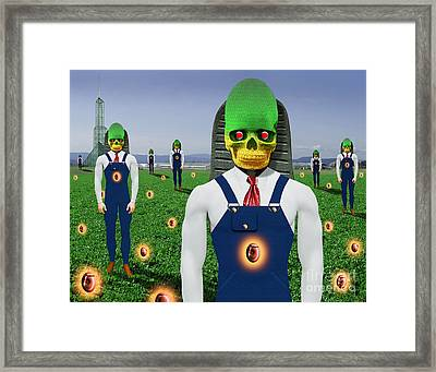 Gmo Demon Seeds Framed Print by Keith Dillon