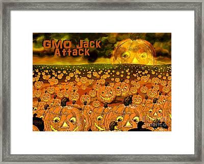 Gmo Jack Attack Framed Print by Carol Jacobs