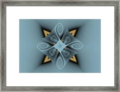 Gnarl And Cross Framed Print by Mark Eggleston