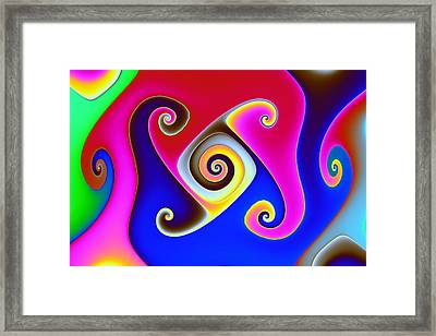 Gnarl In Polychrome Framed Print