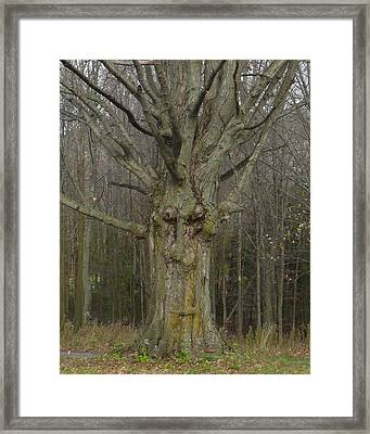 Gnarly Face Framed Print