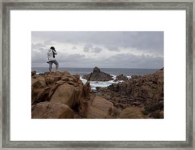 Gneiss Outcrop At Canal Rocks, Australia Framed Print