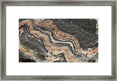 Gneiss Rock  Framed Print