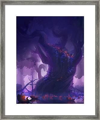 Gnome City Framed Print by Kristina Vardazaryan