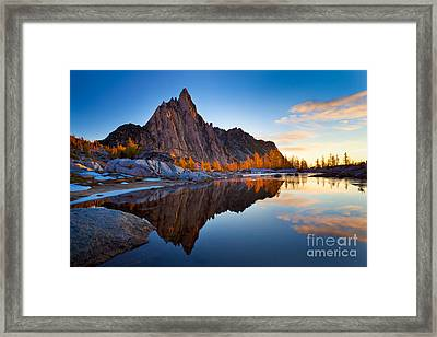 Gnome Tarn Clouds Framed Print by Inge Johnsson