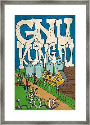 Gnu Kung Fu - Armington Framed Print by Jon Griffin