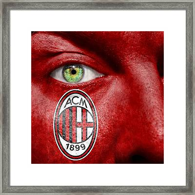 Go Ac Milan Framed Print by Semmick Photo