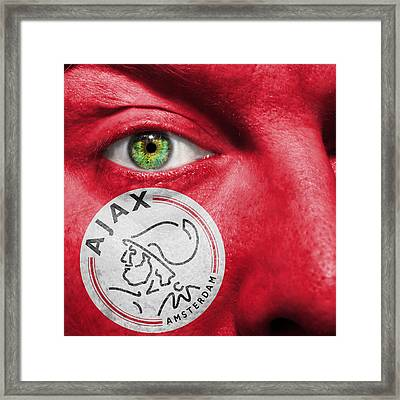 Go Afc Ajax Framed Print by Semmick Photo