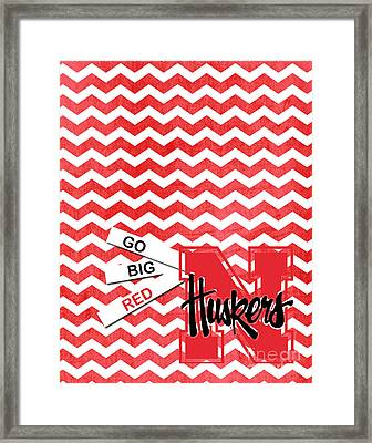 Go Big Red Framed Print