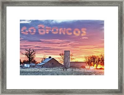 Go Broncos Colorado Country Framed Print by James BO  Insogna
