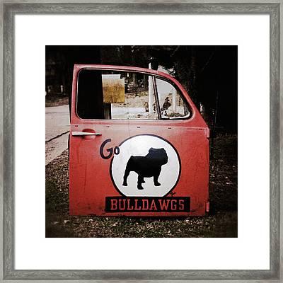 Go Bulldawgs Framed Print