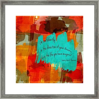 Go Confidently Framed Print by Bonnie Bruno