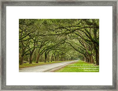 Go Confidently In The Direction Of Your Dreams Endless Oaks Inspirational Art Framed Print