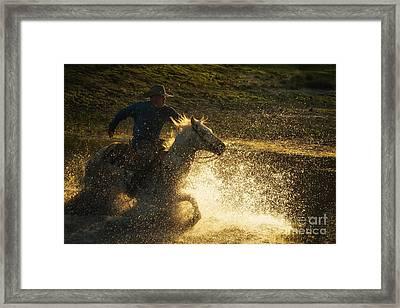 Go Cowboy Framed Print by Ana V Ramirez