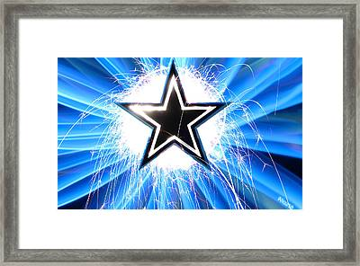 Go Cowboys Framed Print