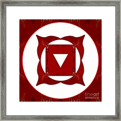 Go Deep Abstract Chakra Art By Omaste Witkowski Framed Print by Omaste Witkowski