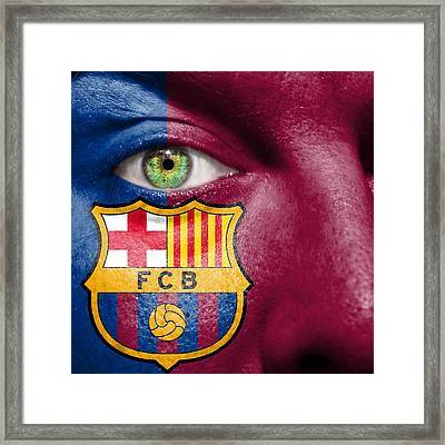 Go Fc Barcelona Framed Print by Semmick Photo