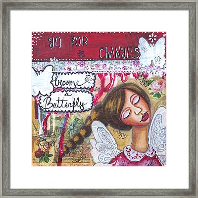 Go For Changes Inspirational Art Framed Print