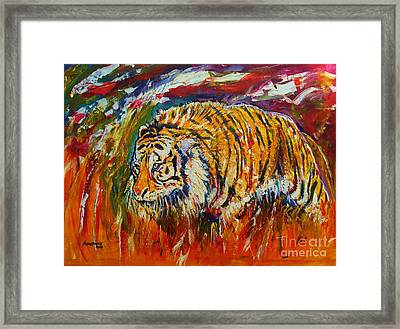 Go Get Them Tiger Framed Print