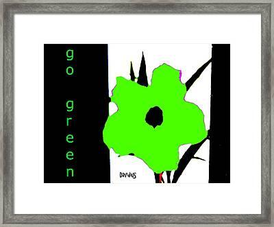 Go Green Framed Print