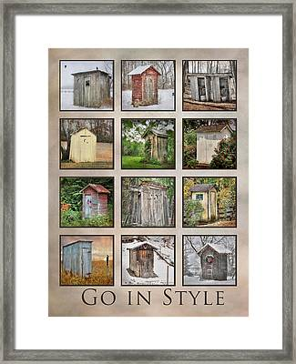 Go In Style - Outhouses Framed Print by Lori Deiter