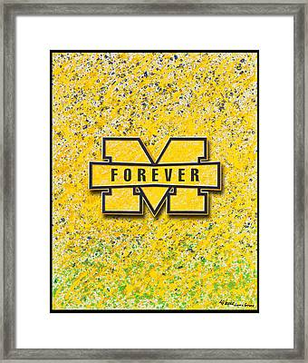 Go Michigan Framed Print by Lance Graves